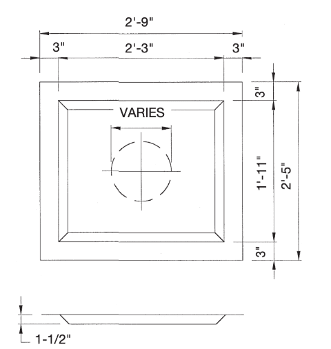 Recessed Sump Pan diagram