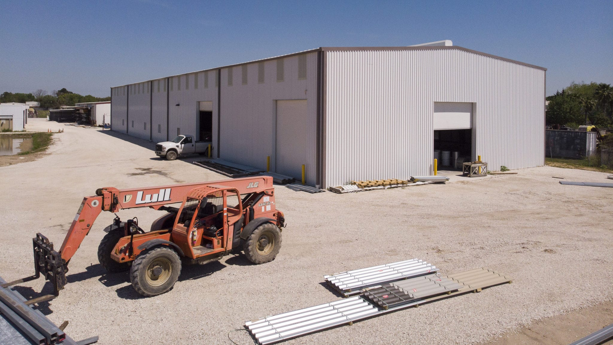 Our 16,000-sq. ft. warehouse and 5-acre yard provide ample space for deck production and a large inventory of stock deck.