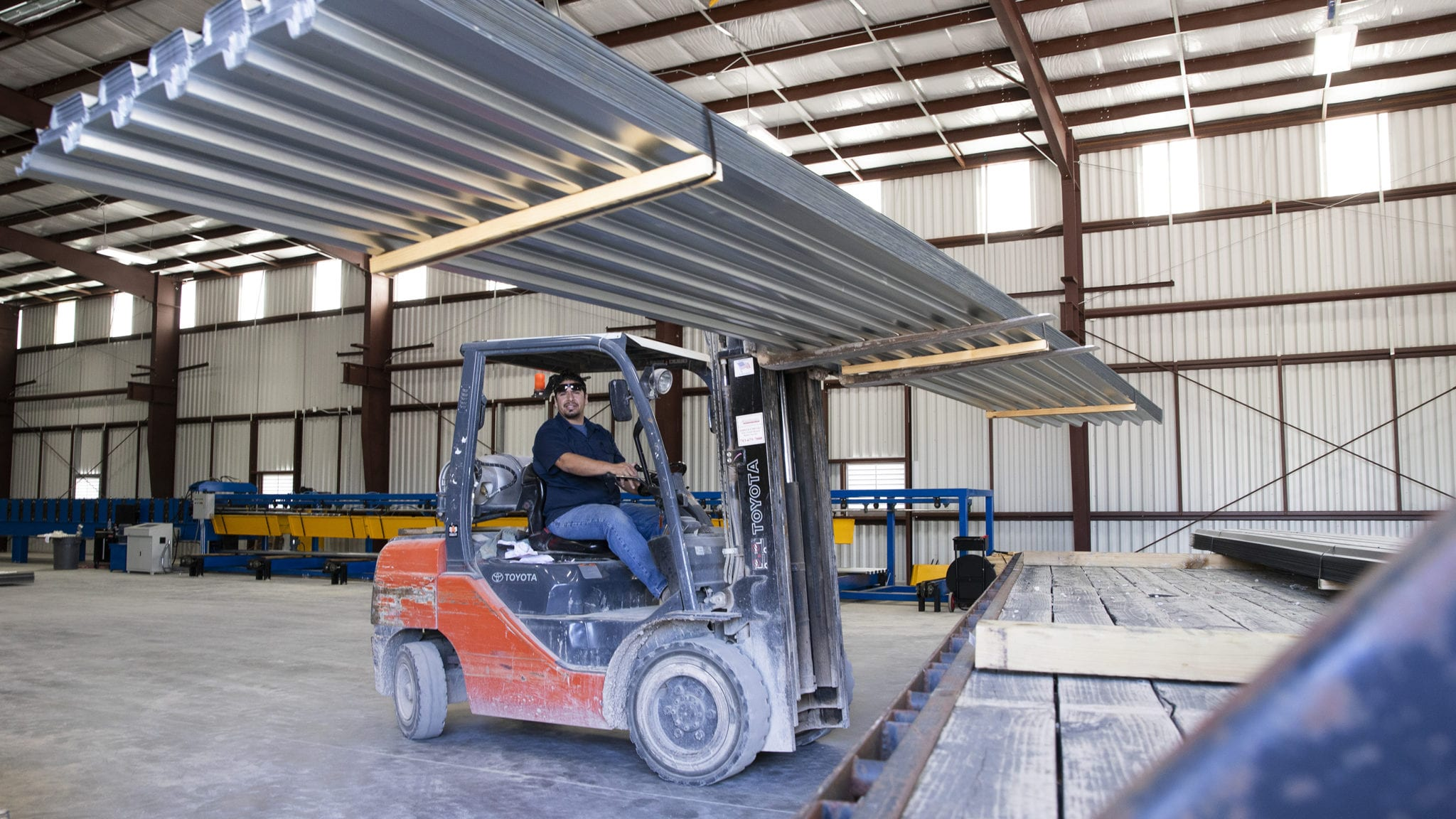 We ship our metal deck to various locations across the United States.