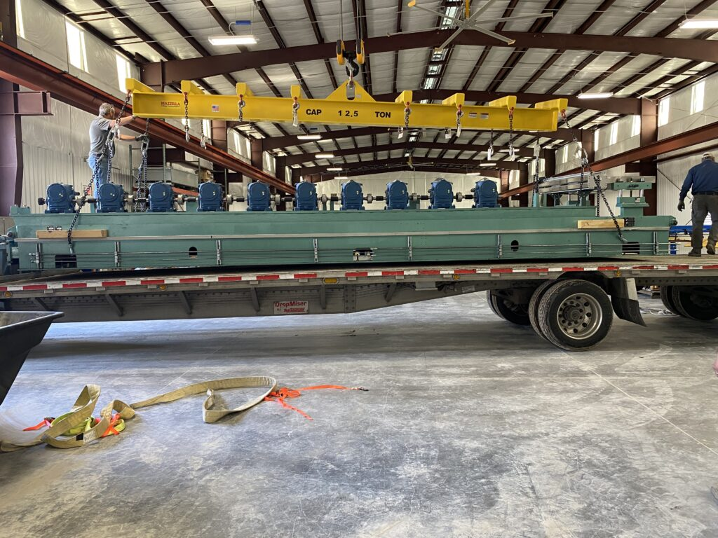 new deck mill being installed at CSM manufacturing facility